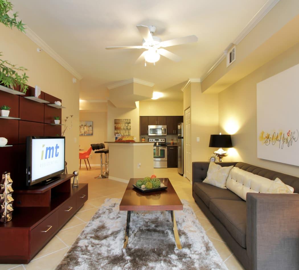 Beautifully decorated model home at IMT Miramar in Miramar, FL