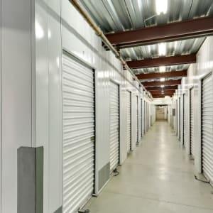 Indoor hallway full of storage units at A-1 Self Storage in San Diego, California