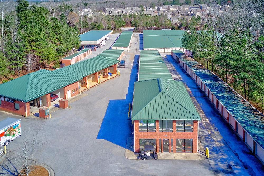 Aerial view of Prime Storage in Dallas, Georgia