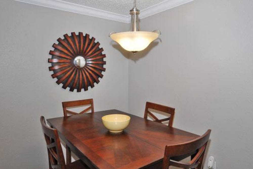 Ample dining room at French Colony Apartments in Lafayette, Louisiana