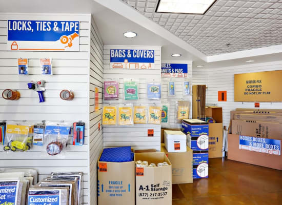 Moving and packing supplies available at A-1 Self Storage in San Diego, California