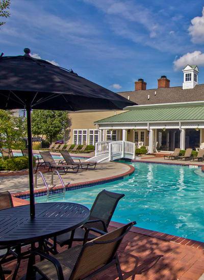 Sun deck and pool at Preston Gardens in Perrysburg
