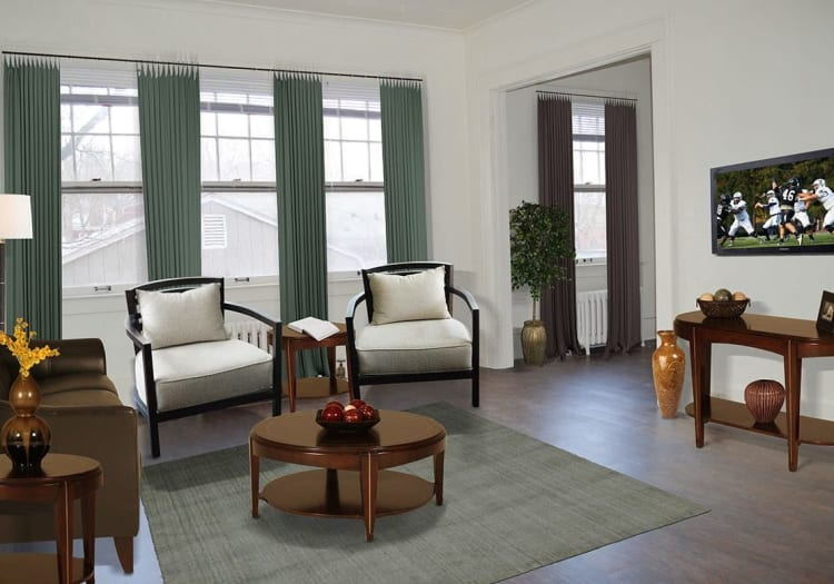 Open living room at Frontenac/Genesee in Syracuse, NY