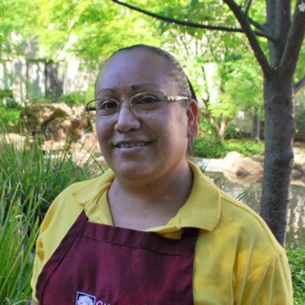 Marcy S, housekeeper at Campus Commons Senior Living in Sacramento, California