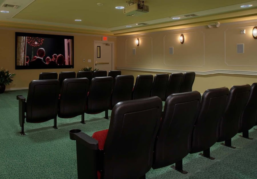 Movie theatre at Waltonwood Main in Rochester Hills, MI