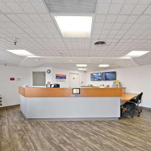 Leasing office desk at A-1 Self Storage in La Mesa, California