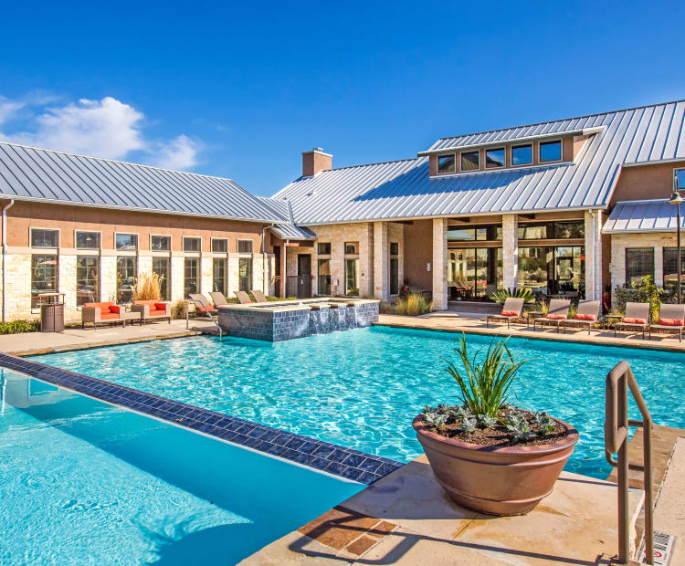 Clubhouse pool at Estates at Bee Cave