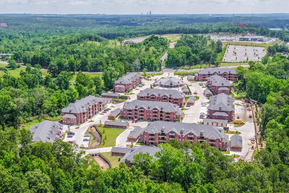 Aerial view of Arlo Luxury Apartment Homes in Little Rock, Arkansas