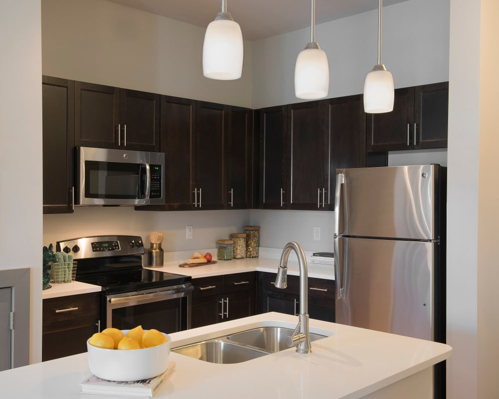 Our modern kitchen at The Addison in Baton Rouge, Louisiana
