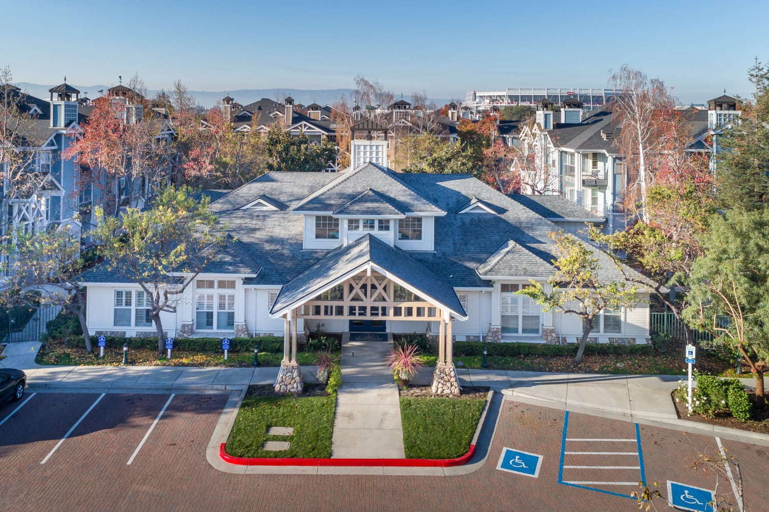 Clubhouse entrance at Nantucket Apartments in Santa Clara, California