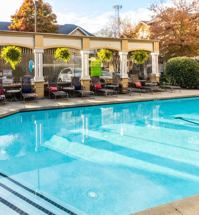 Sparkling pool at Marquis Midtown West in Atlanta, Georgia