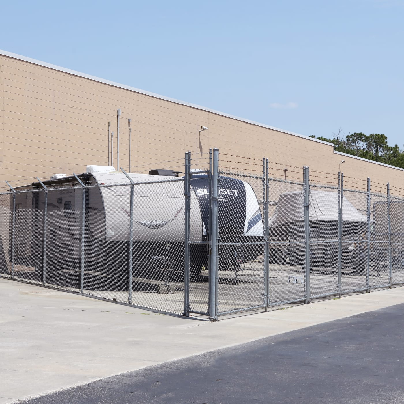RV parking at Midgard Self Storage in Jacksonville, Florida