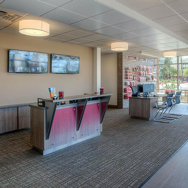 Interior of the leasing office at StorQuest Self Storage in Phoenix, Arizona