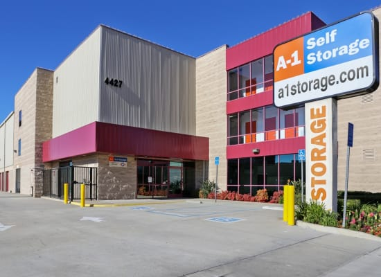 Front entry to A-1 Self Storage in Glendale, California