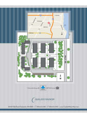 Site map for Cavalier Manor in Eastpointe, Michigan