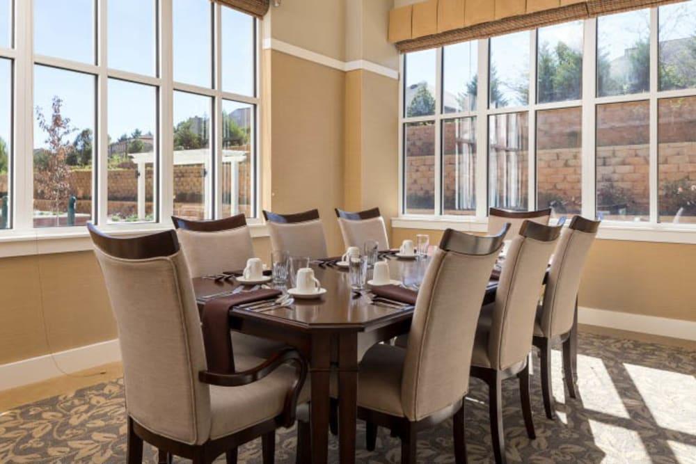 Dining room at Merrill Gardens at Madison in Madison, Alabama.