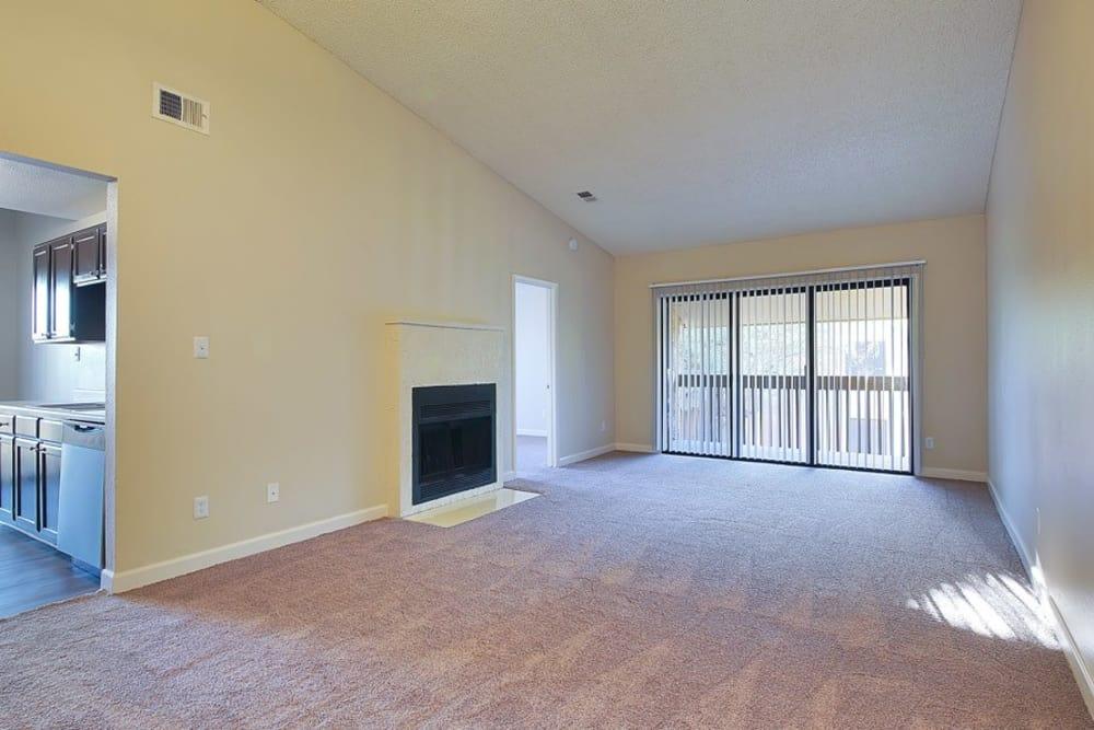 Beautiful living room at Renaissance Apartment Homes in Phoenix, Arizona