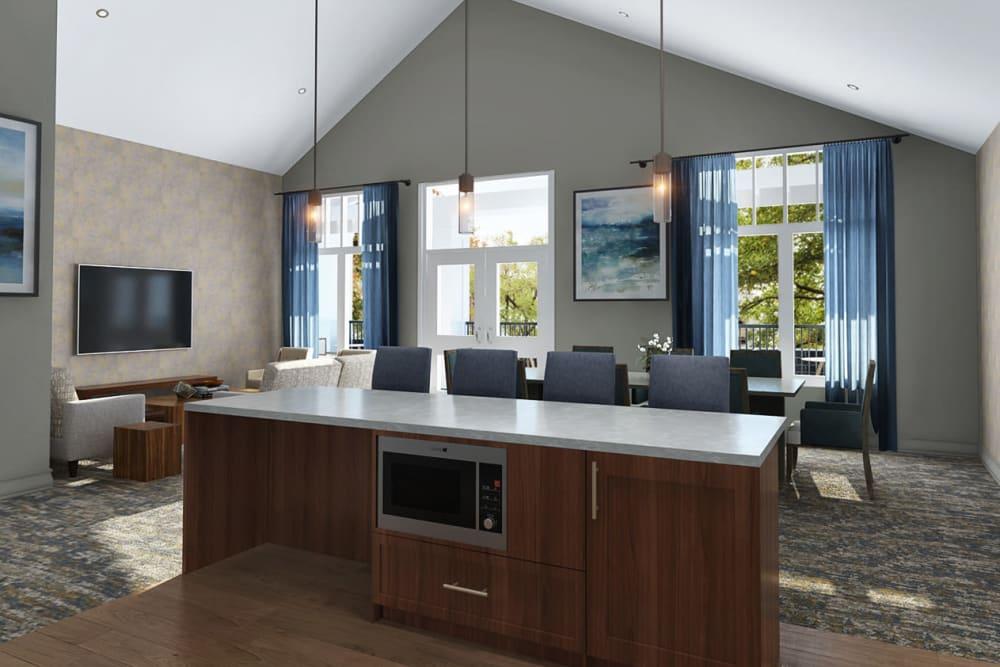 Resident community room at Anthology of Novi - OPENING 2020 in Novi, Michigan