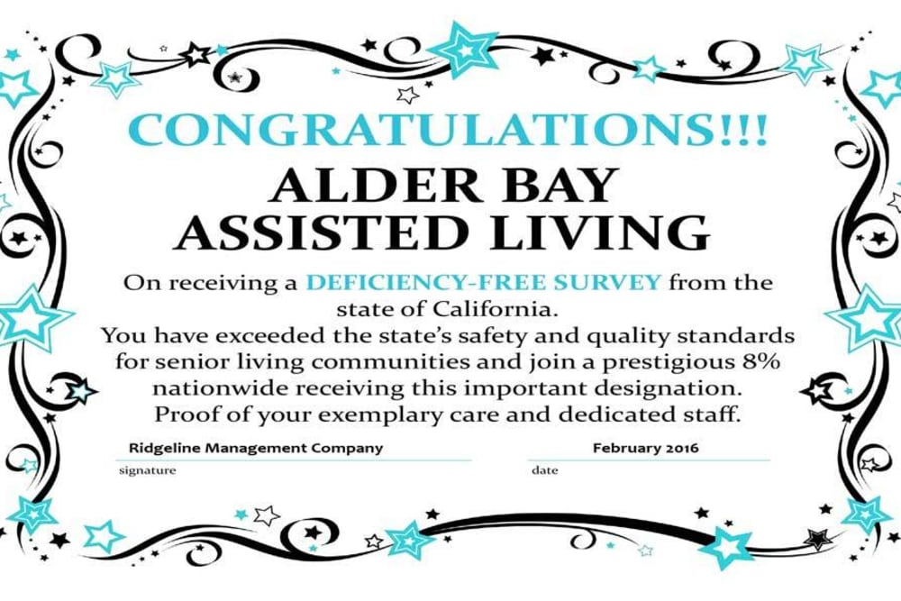 Congratulations Alder Bay Assisted Living