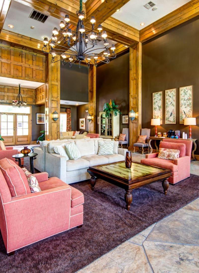 Elegant lobby at Marquis at Silverton in Cary, North Carolina