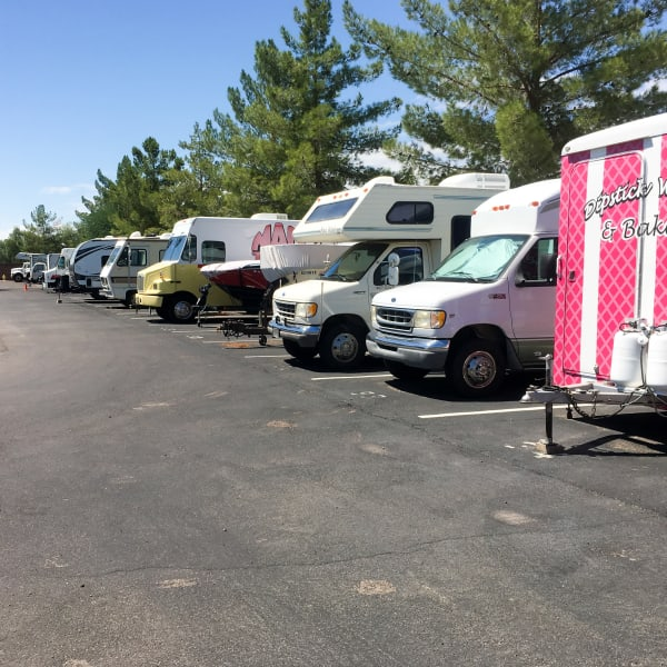 Outdoor RV and auto parking at StorQuest Express - Self Service Storage in Briarcliff Manor, New York