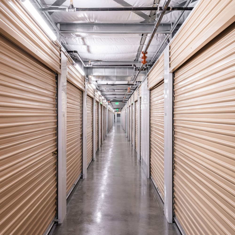 Interior storage units at Cubes Self Storage in Draper, Utah