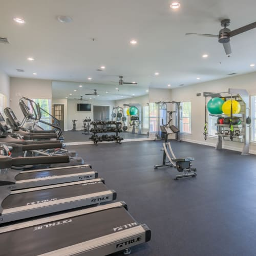 View virtual tour of the fitness center at The Vive in Kannapolis, North Carolina