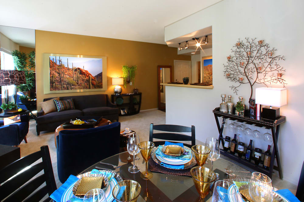 Dining area at Sage Luxury Apartment Homes in Phoenix, Arizona