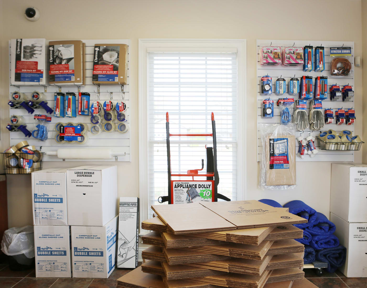 Packing and moving supplies for sale at StoreSmart Self-Storage in Watkinsville, Georgia