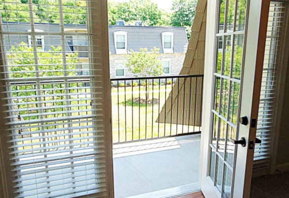 Private balcony at Courtyard Commons apartments
