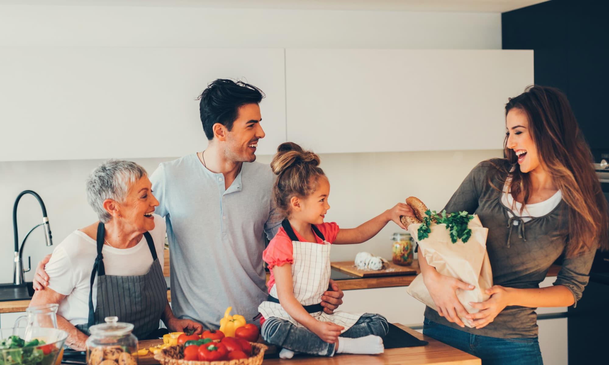 Family at President Village in Fall River, Massachusetts