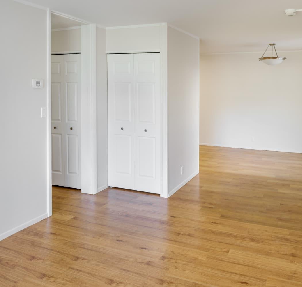 Interior of model apartment at Taunton Gardens in Taunton, Massachusetts