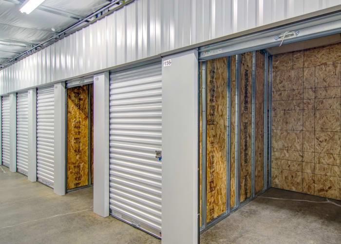 Exterior view of units at Oregon RV & Storage