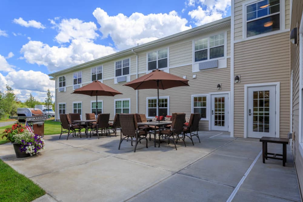 Spacious exterior areas at All American Assisted Living at Washington Township
