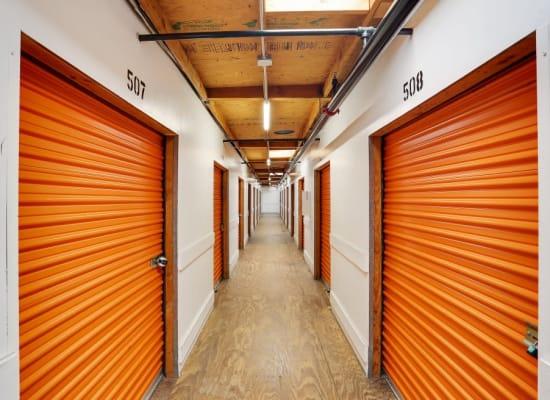 Indoor storage at A-1 Self Storage in El Cajon, California