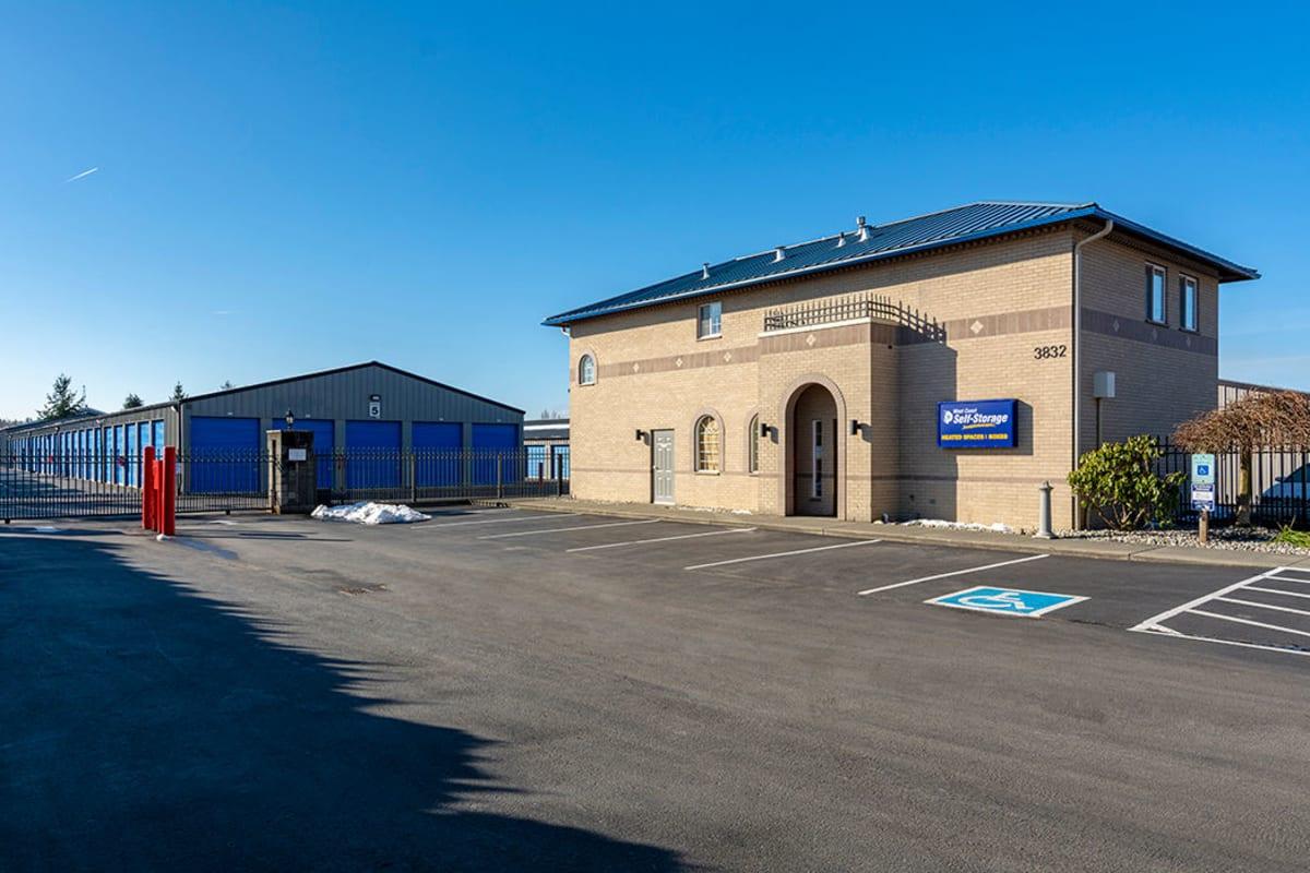 Clean exterior storage units at Glacier West Self Storage in Arlington, Washington