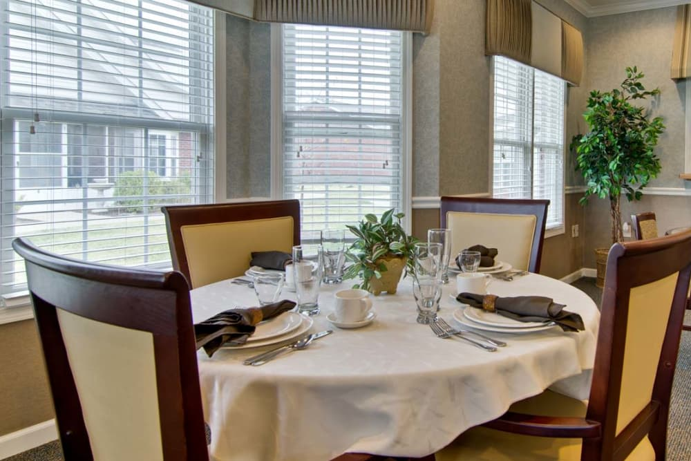 Fine Dining is offered to Residents at Monterey Village Senior Living in Lawrence, Kansas