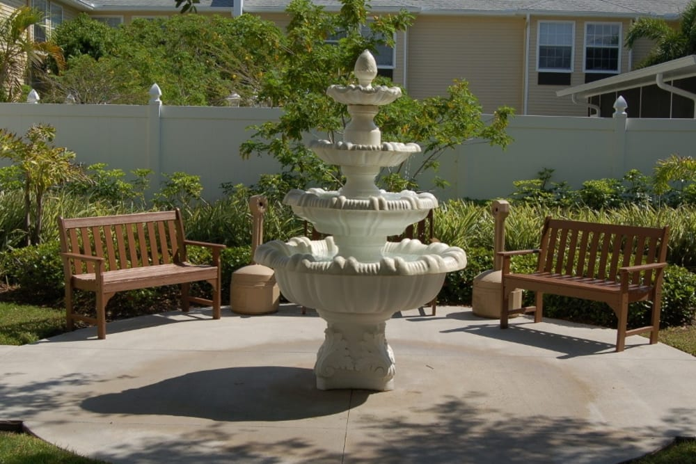 Fountain at Grand Villa of Largo in Florida