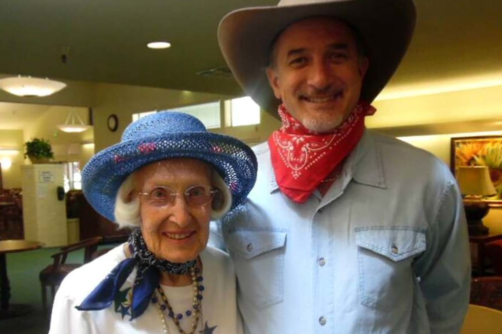 Cowboy Themed Party at tHilltop Commons Senior Living in Grass Valley, California