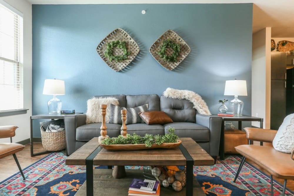 Modern Living Room at Springs at Cottonwood Creek Apartments