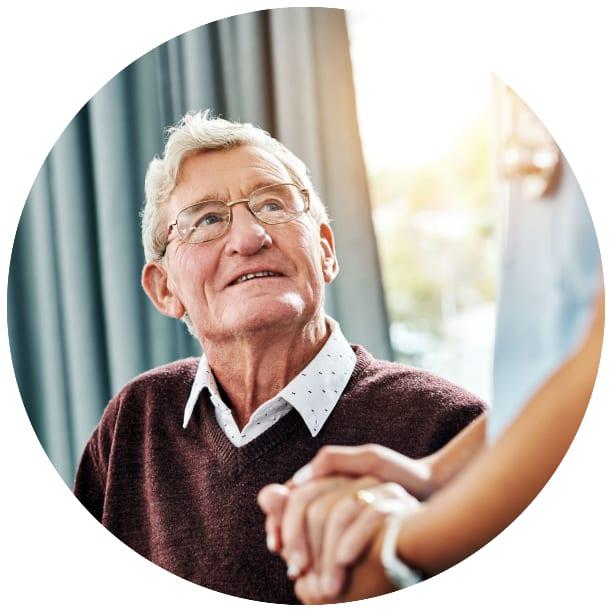 Skilled nursing resident at a Ebenezer Senior Living community