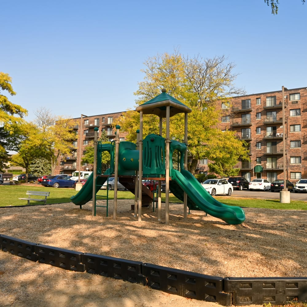 Onsite playground at Mandalane Apartments in Wheeling, Illinois