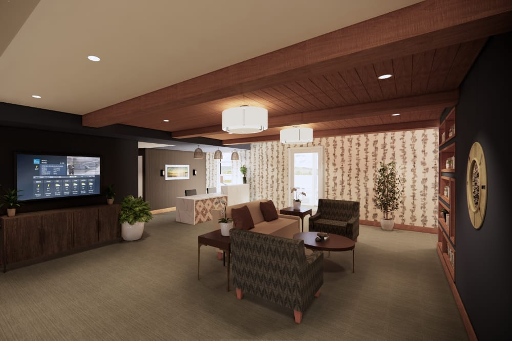 Main lobby at Broadwell Senior Living in Plymouth, Minnesota