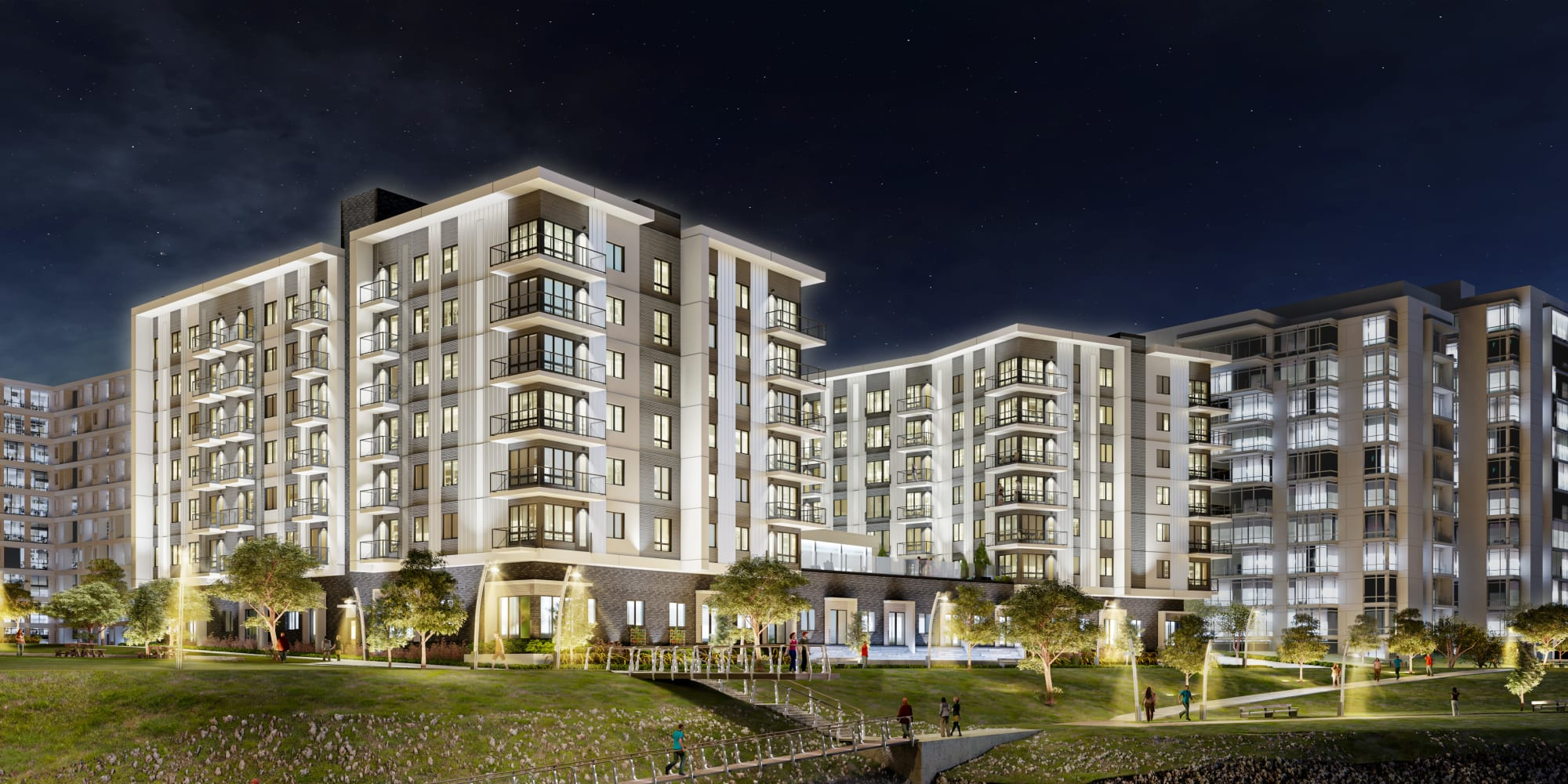 Apartments at The Columbia at the Waterfront in Vancouver, Washington