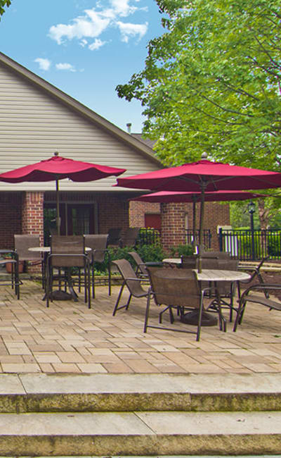 Sundeck at apartments in Pittsburgh, Pennsylvania