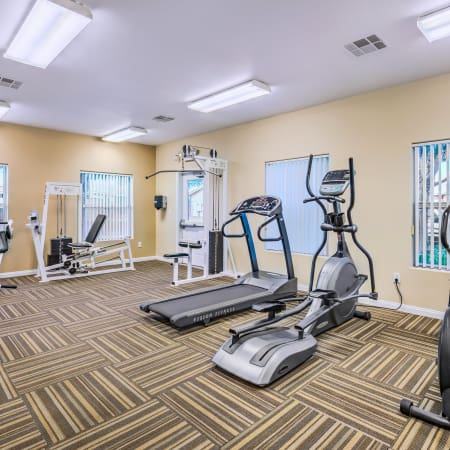 Fitness Center with Cardio Machines at Portola Del Sol in Las Vegas