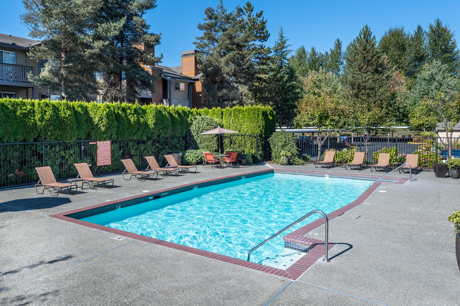 Enjoy a swimming pool at Campbell Run Apartments in Woodinville, Washington