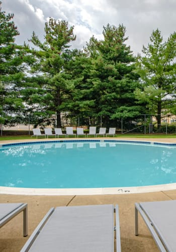 The community pool at Allentown Apartments in Suitland, Maryland