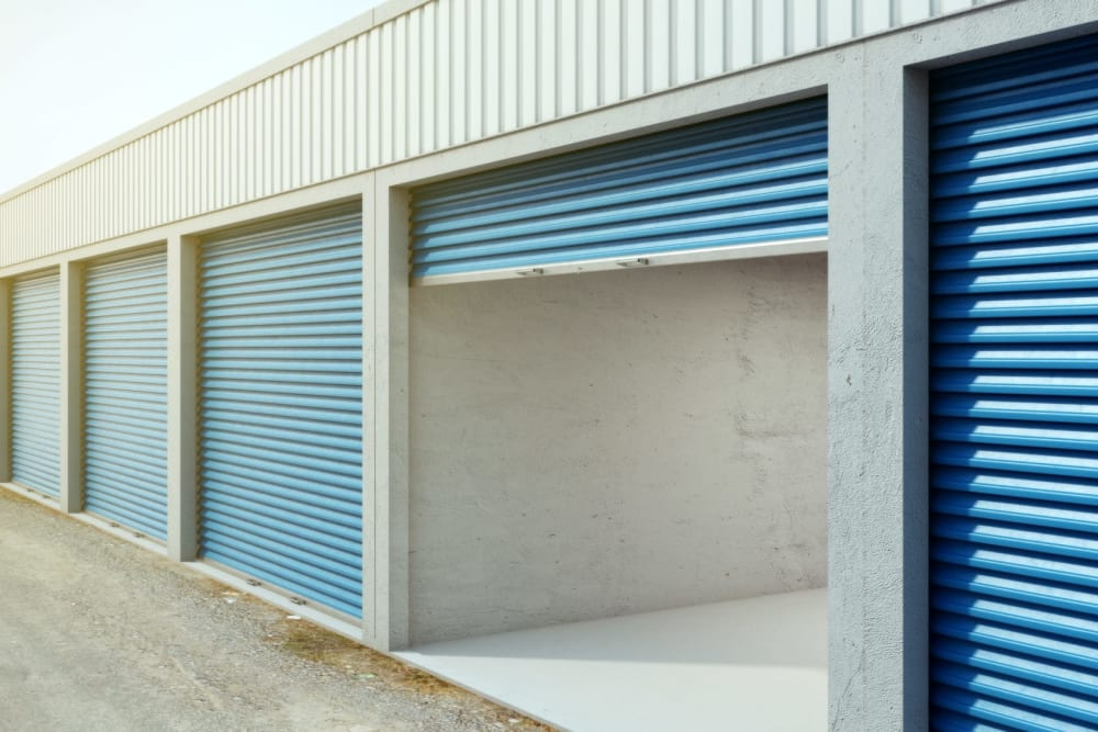 An open unit at Storage Star Domain in Austin, Texas