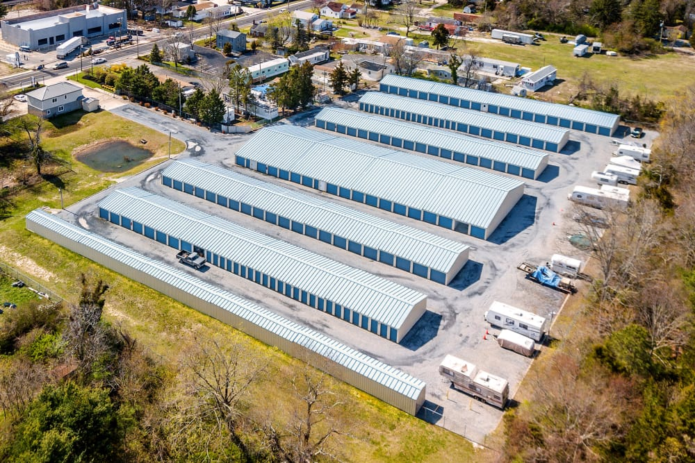 Aerial view of A Safe Keeping Self Storage in Cape May Court House, New Jersey